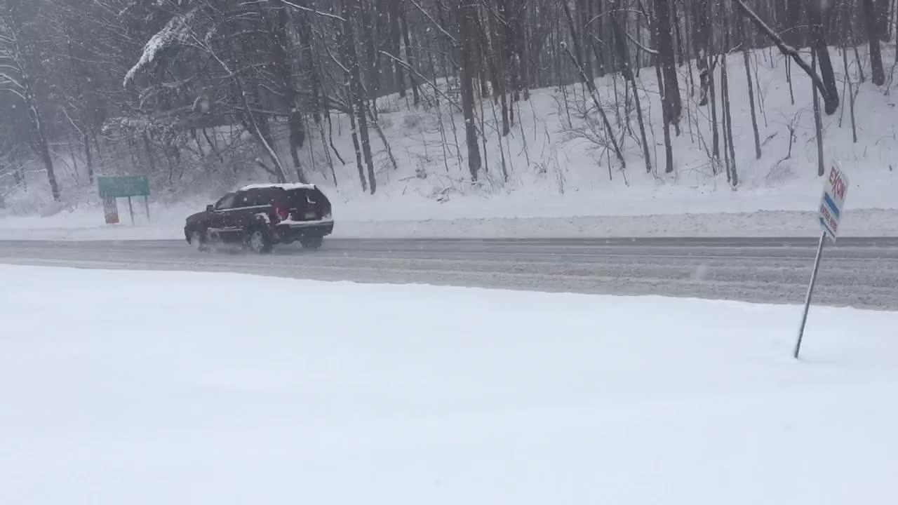 Video: Snow on Route 23 in West Milford