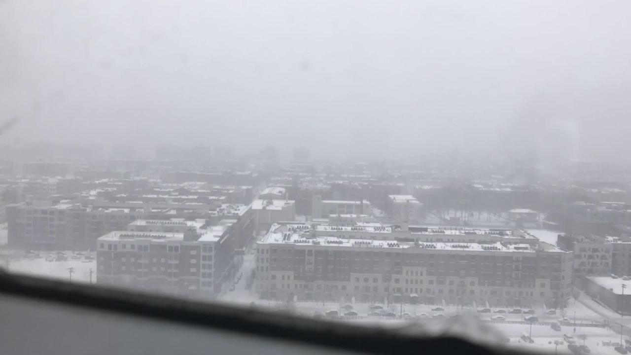 Video: Time lapse of Tuesday's snow