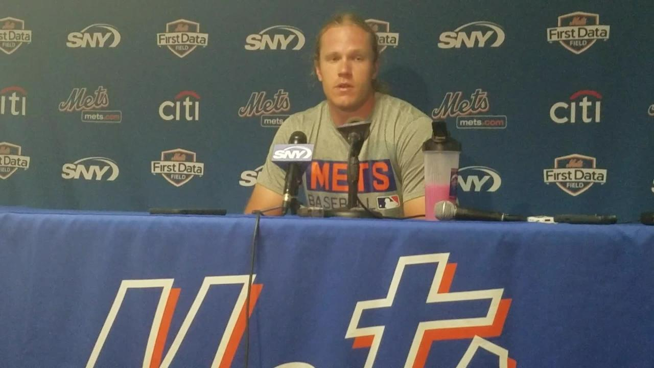 Noah Syndergaard talks about his six innings of one-run ball.