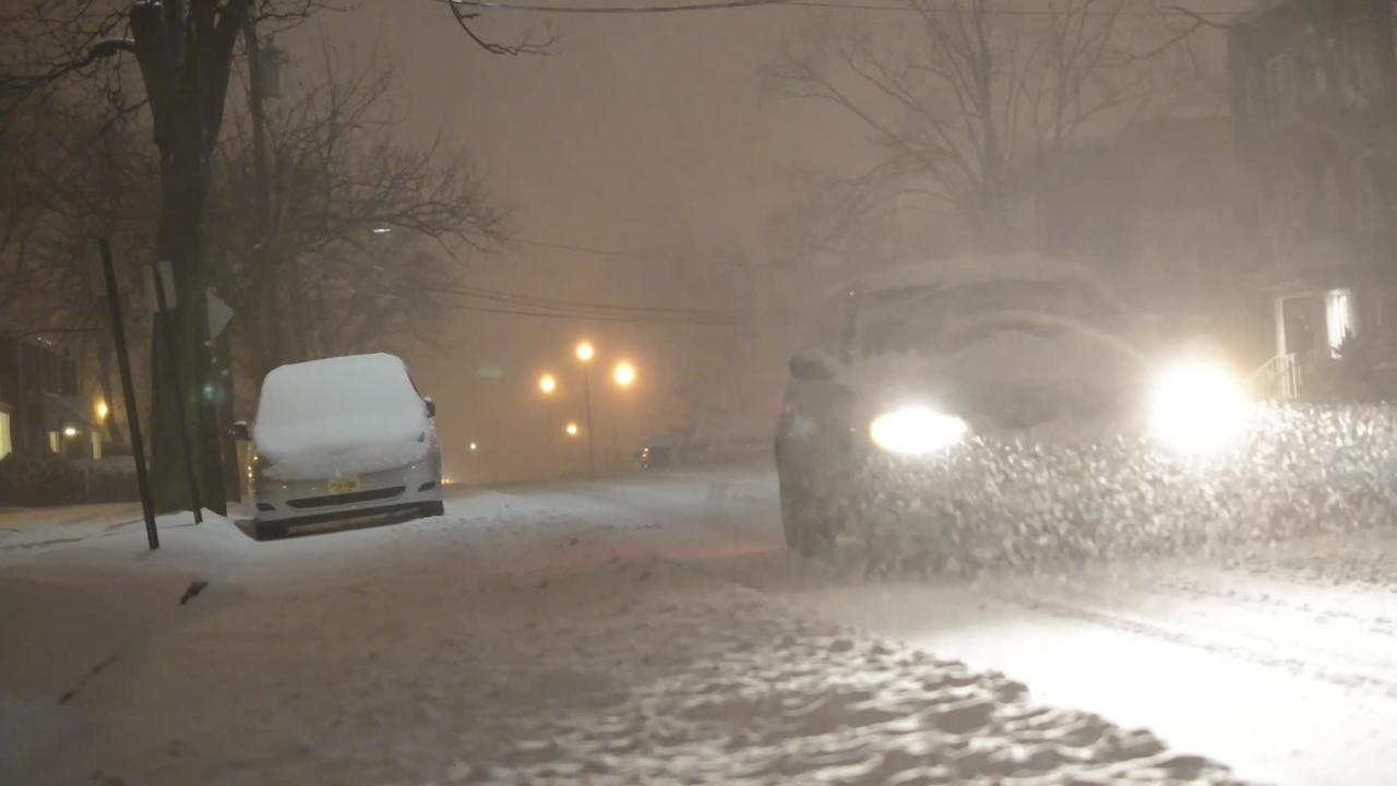 Video: Winter storm hits Rutherford