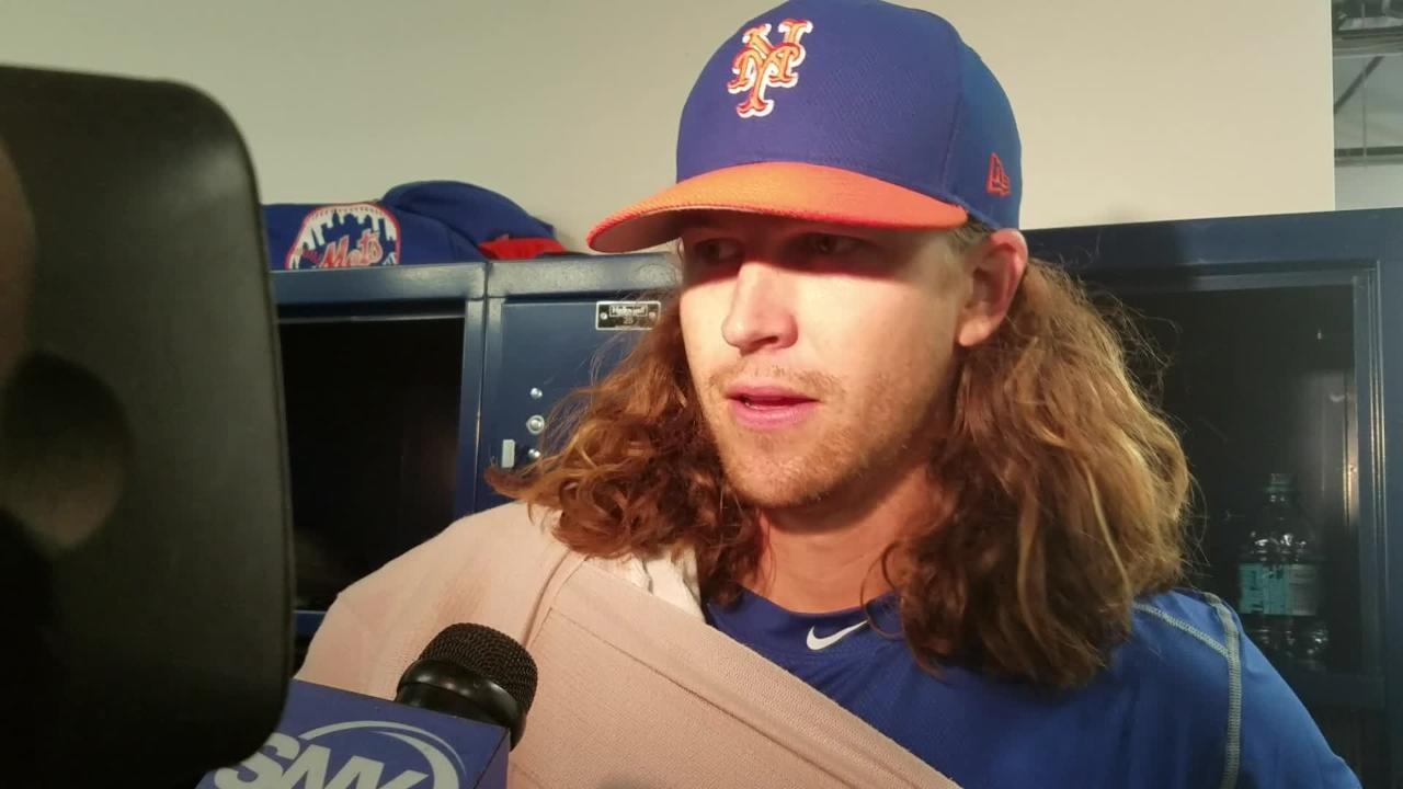 Jacob deGrom discusses his four innings against Houston