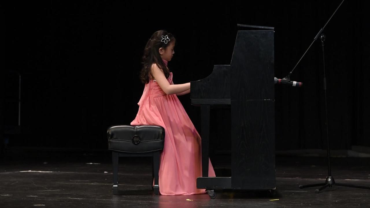 "Third-grade student Hannah Lee, of Closter, performs ""Waltz Op. 64 No. 1 in D Major"" by Chopin as part of ""Valley's Got Talent"" at Northern Valley Regional High School at Old Tappan on March 18, 2017."