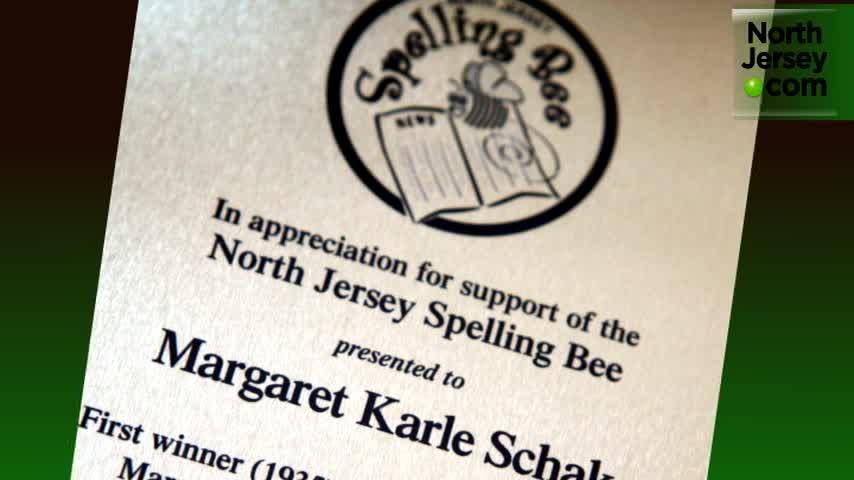 Margaret Karle Schak, the very first champion of the competition in 1937, talks about her Spelling Bee experience.  She went on to become a councilwoman and mayor of Rutherford.