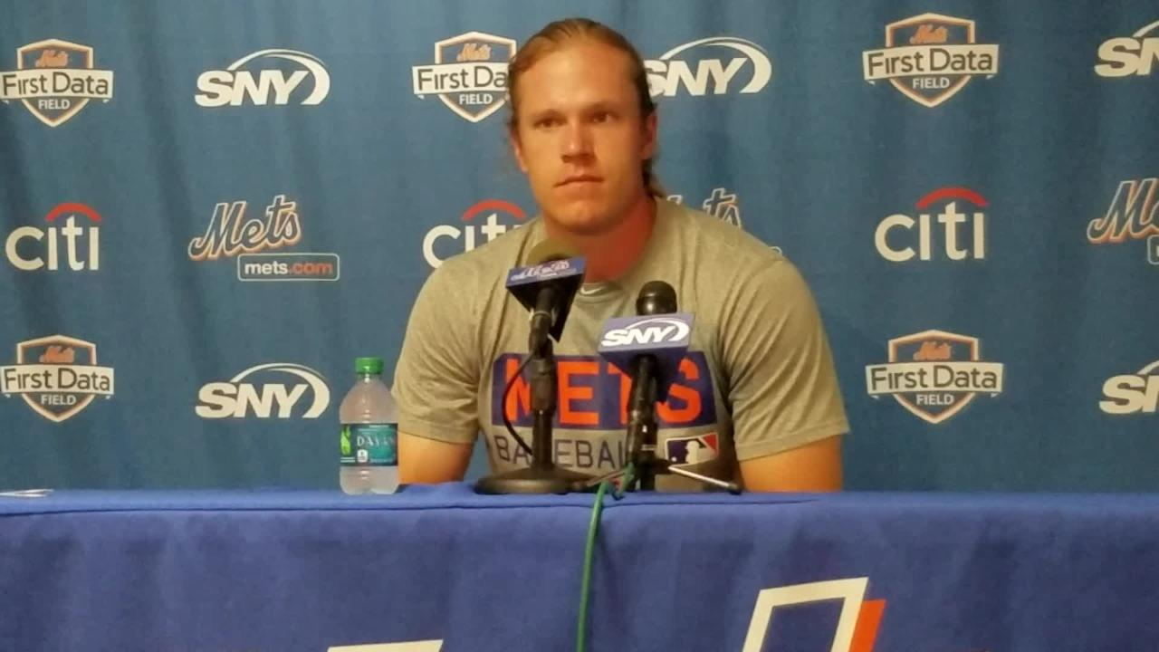 Noah Syndergaard pitches Monday.