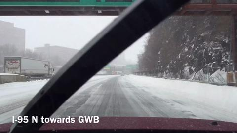 Video: Road conditions in eastern Bergen