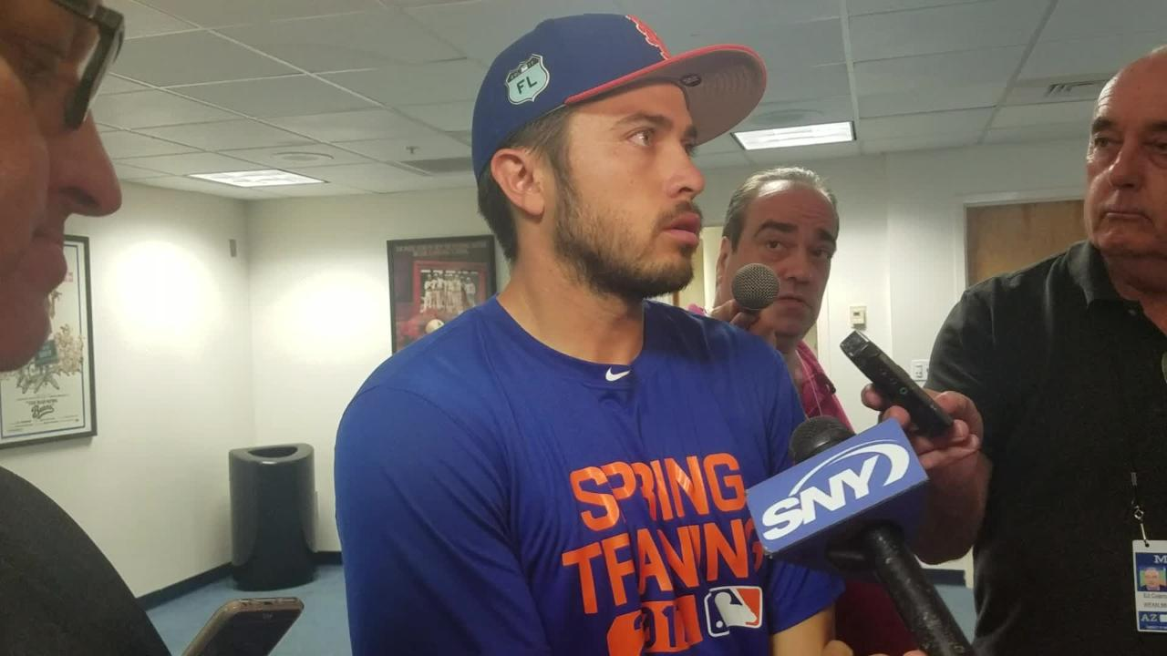 Travis d'Arnaud discusses his rough day throwing out runners