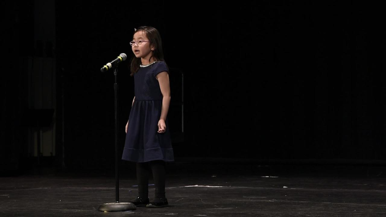 "Third-grade student Elisa Oh, of Haworth, performs ""How Far I'll Go"" as part of ""Valley's Got Talent"" at Northern Valley Regional High School at Old Tappan on March 18, 2017."
