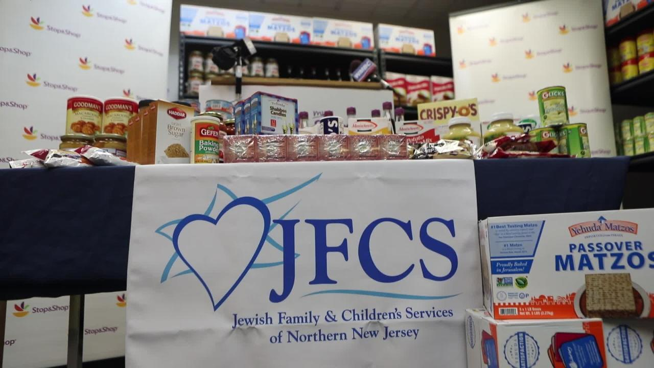 Two tons of kosher for Passover food was donated by Stop&Shop to the Jewish Family & Children's Services of Northern New Jersey in Teaneck. Tuesday, March 28, 2017
