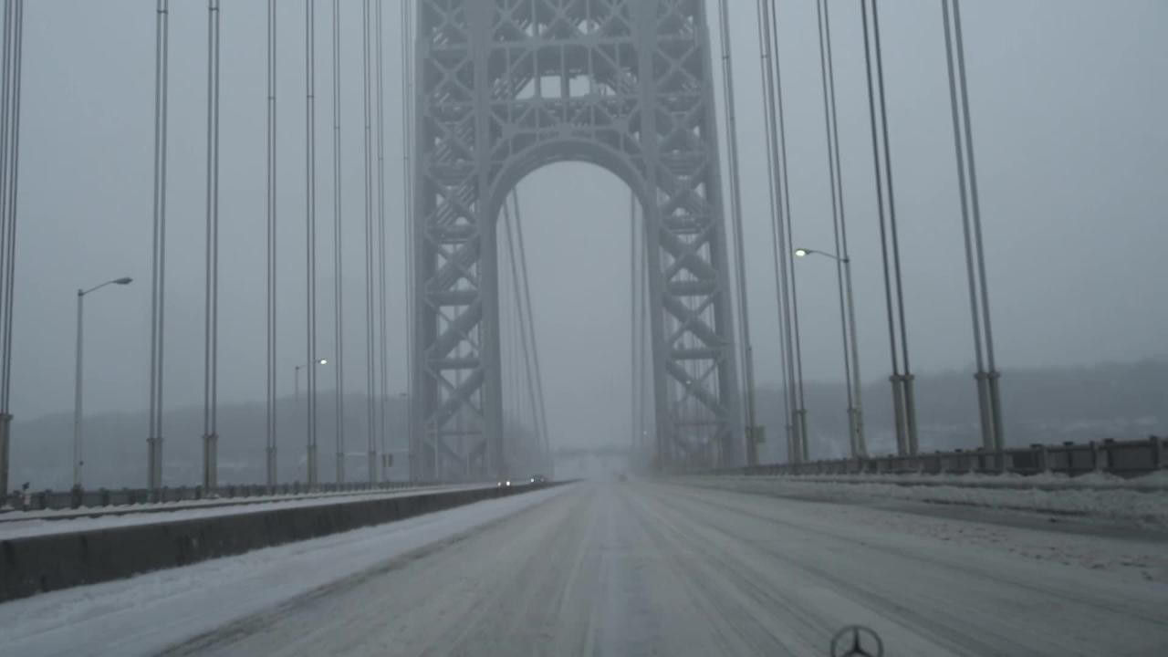 Crossing GW Bridge from NYC