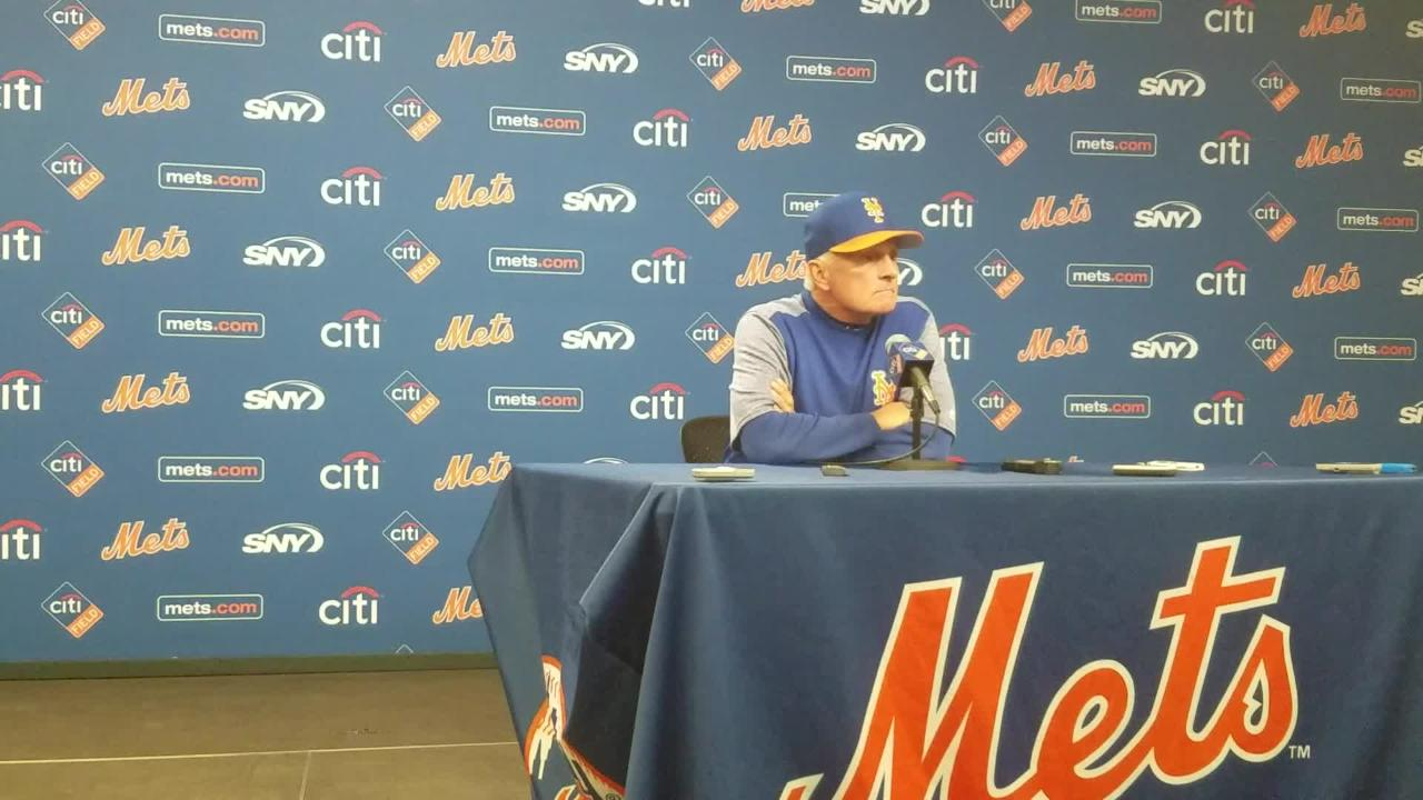 Terry Collins updates the status of Yoenis Cespedes and Travis d'Arnaud