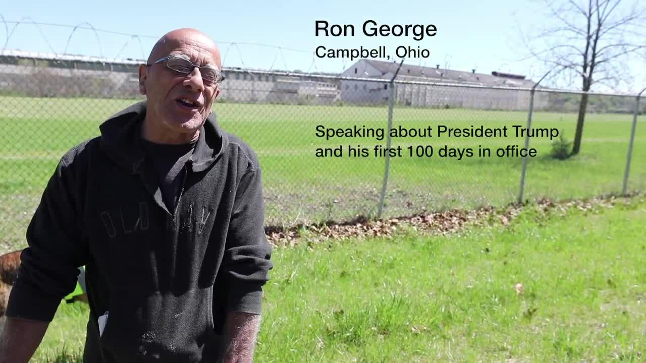 Mike Kelly interviews former steel worker Ron George, Ohio on President Trumps performance in the first 100 days.