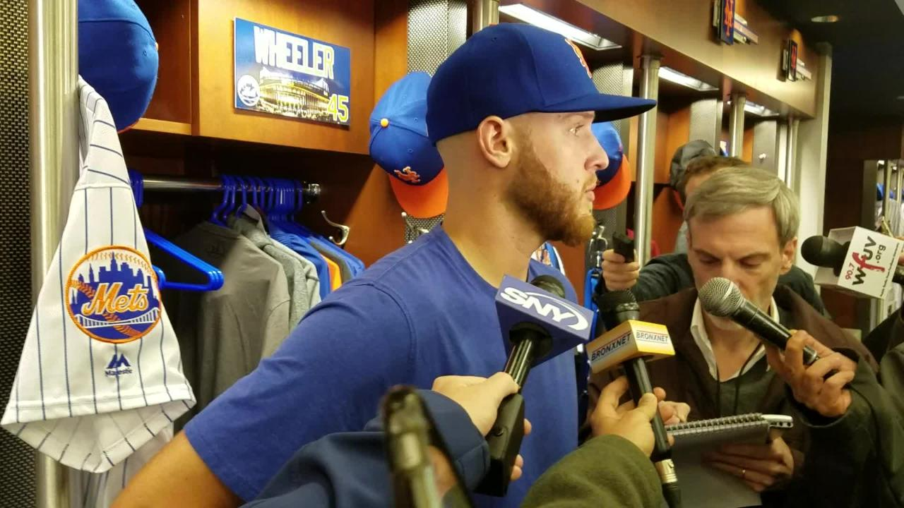 Zack Wheeler discusses the first inning.