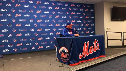 Terry Collins discusses the Mets' recent offensive struggles.