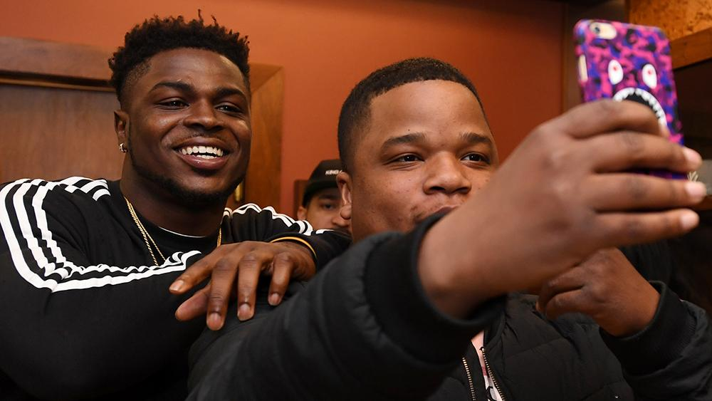 Jabrill Peppers, former Paramus Catholic football star who will soon be drafted into the NFL, meets fans at Packer Shoes in Teaneck on Saturday, April 22, 2017.