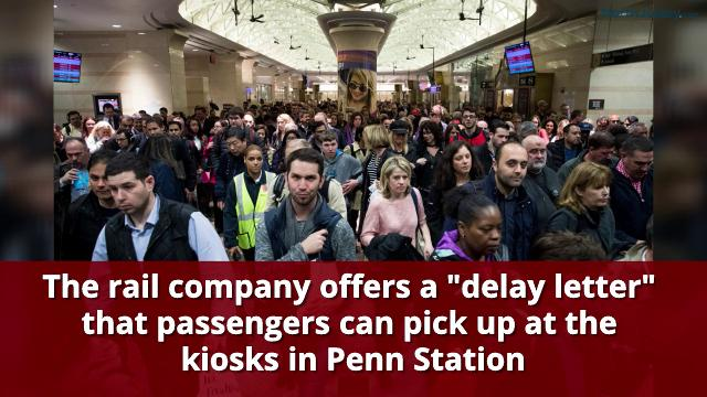 NJ Transit is handing out 'delay' letters.
