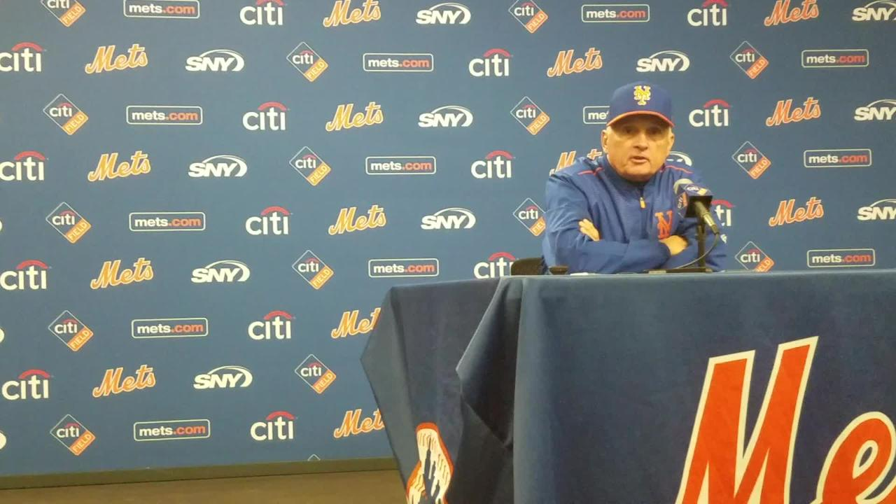 Mets manager Terry Collins discusses Michael Conforto.