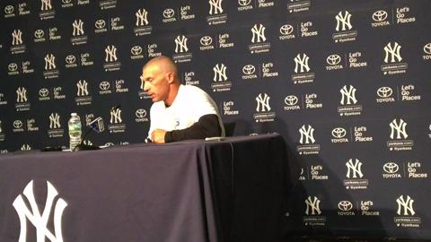 Girardi talks about Masahiro Tanaka's start tonight and Chase Headley moving up to No. 2spot in lineup.