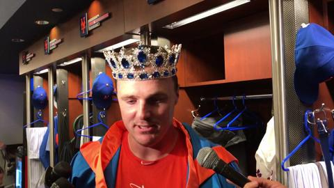 Jay Bruce discusses his multi-homer game.