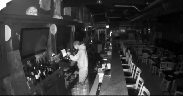 Police released surveillance footage of a suspect taking cash from behind the bar at Lombardi's Bar and Restaurant in Cedar Grove on April 13, 2017.
