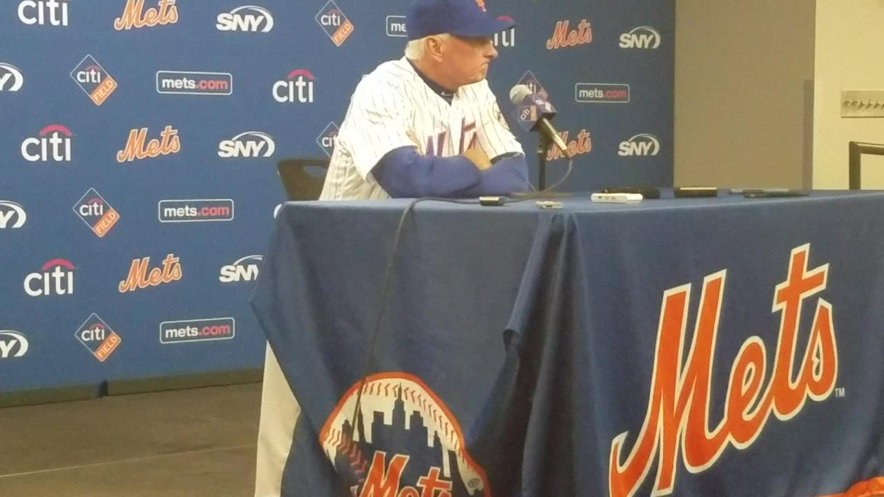 Terry Collins discusses the Mets' offense after the game Saturday, April 22, 2017.