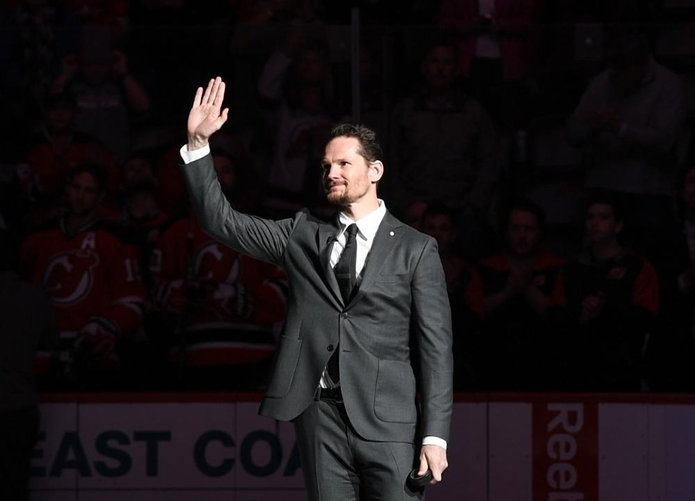 Video: Patrik Elias puck drop
