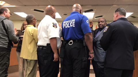 Nine clergy members were sworn in as police chaplains during the Montclair Township Council meeting on April 25.