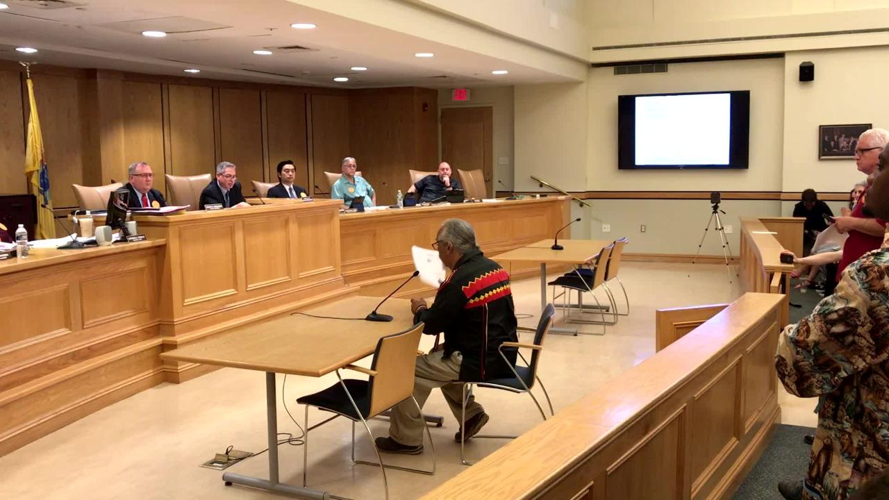 Chief Dwaine Perry declared the Ramapoughs a sovereign entity of the land in a speech to the council in Mahwah.