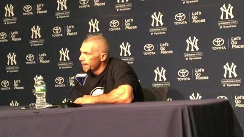 Yankees manager Joe Girardi on the Romine-Tanaka battery taking the field on Friday, May 26, 2017.
