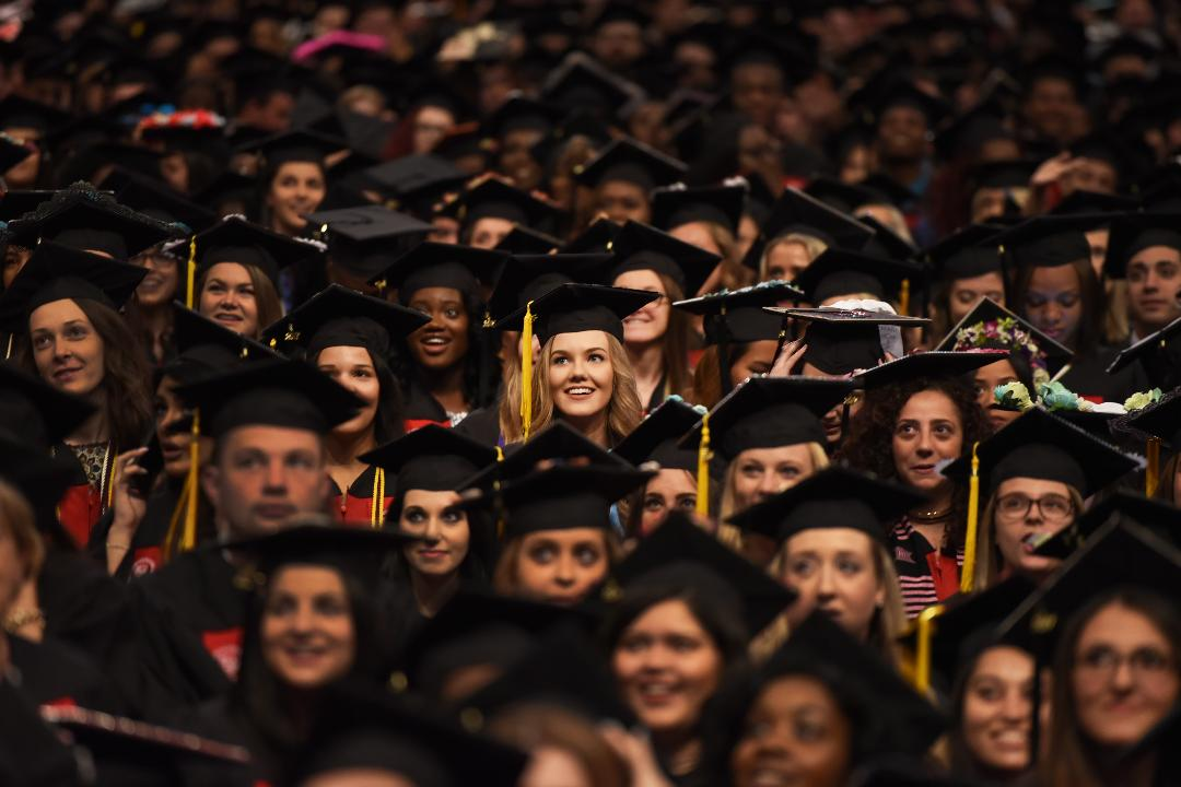 Montclair State University Undergraduate Commencement takes place at the Prudential Center in Newark on May 25th, 2017.
