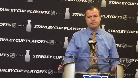 Video  Alain Vigneault reacts to Rangers  playoff elimination 448fc3b43