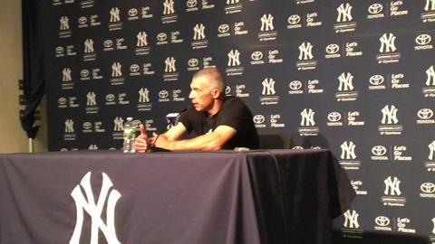 Yankees manager Joe Girardi talks about Dellin Betances filling in as closer for Aroldis Chapman.