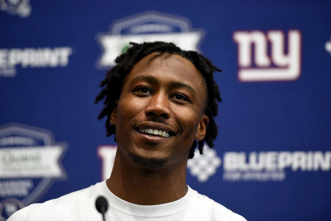 New York Giants wide receiver Brandon Marshall holds his first press conference as a Giant, and answers questions regarding comments made by former NY Jets teammate Sheldon Richardson.