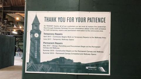 Video: Hoboken concourse reopens early