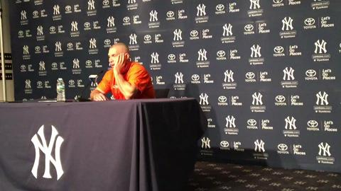 Yankees manager talks about Wednesday night's starter Luis Severino.