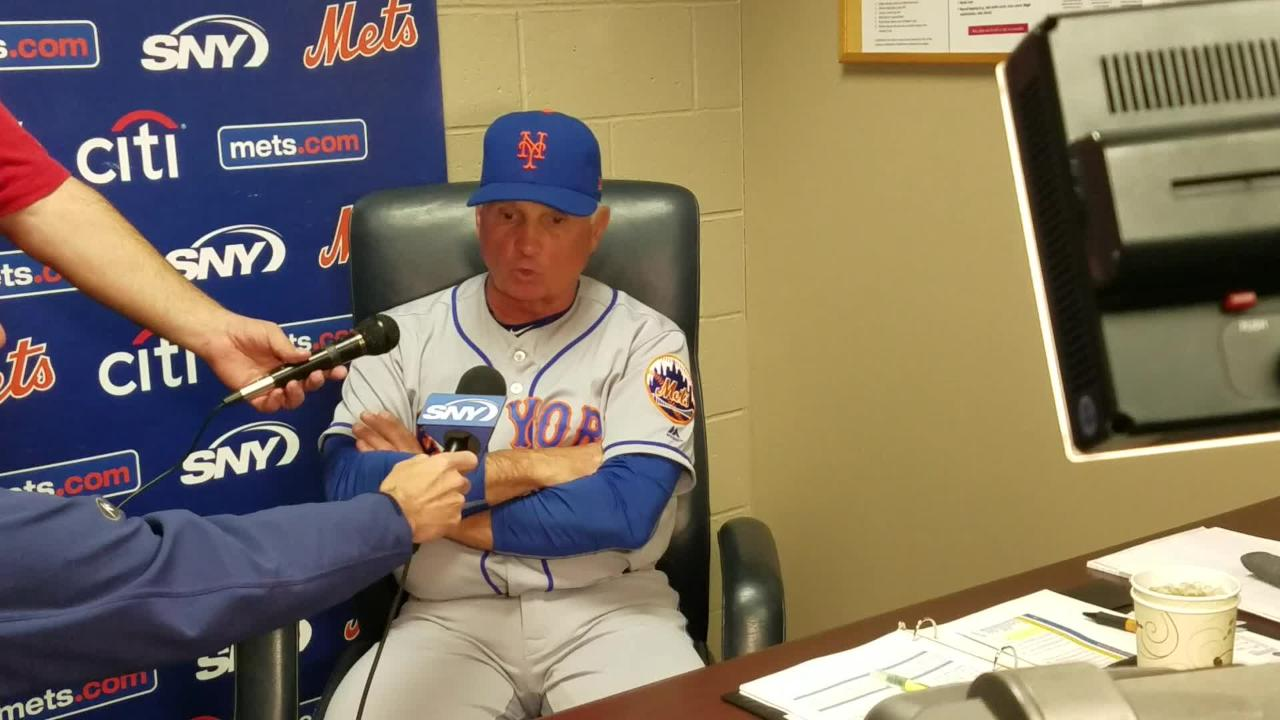 Mets manager Terry Collins discusses the 8-1 win over Pittsburgh on Friday, May 27.