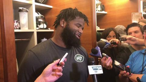 Sheldon Richardson says the Jets locker room is much better this season, taking a not-so-subtle shot at former teammate Brandon Marshall.