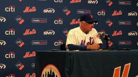 Terry Collins talks about Jacob deGrom's outing against the Angels on Friday, May 19, 2017.