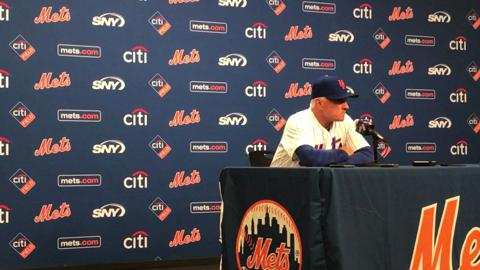 Terry Collins talks about the Mets' 4-3 loss to the Padres on Thursday, May 25, 2017.