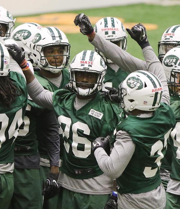 NY Jets second round draft pick Marcus Maye