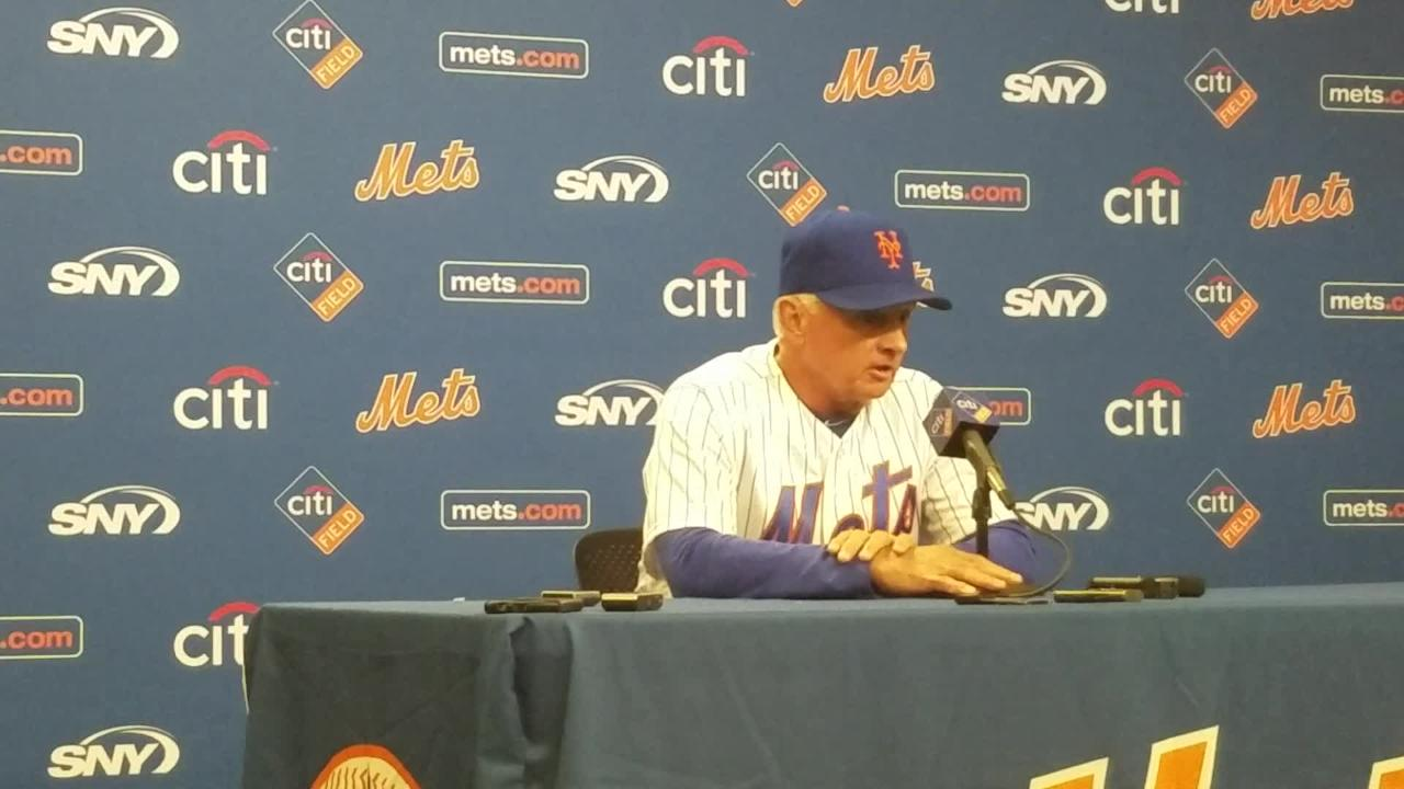 Terry Collins discusses the 6-5 loss to the Padres on Wednesday, May 24.