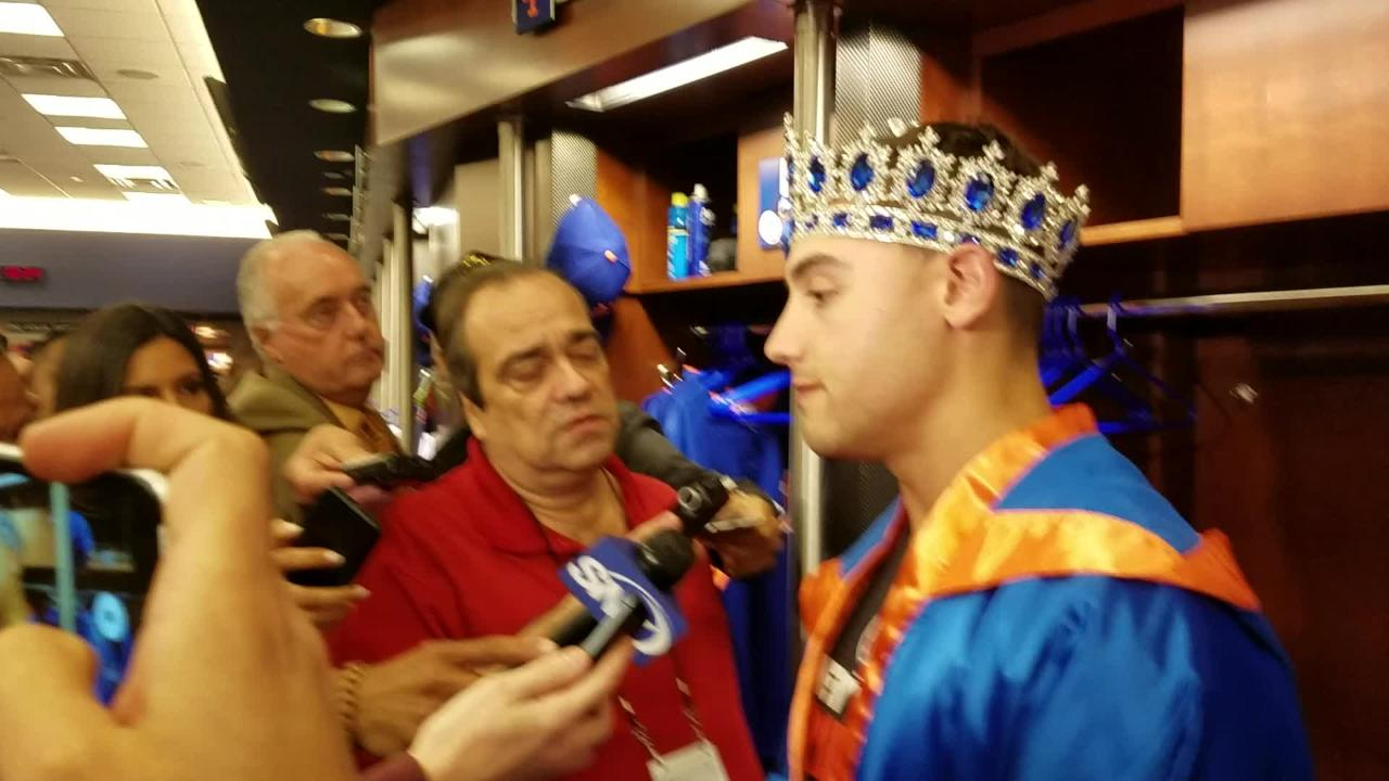 Michael Conforto discusses his 3-for-4 night in the Mets' 9-3 win over the Padres on Tuesday.