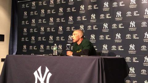 Video: Girardi on decision to call up Luis Cessa