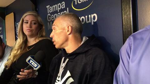 Girardi talks about Tanaka's outing today at 4 pm vs Rays