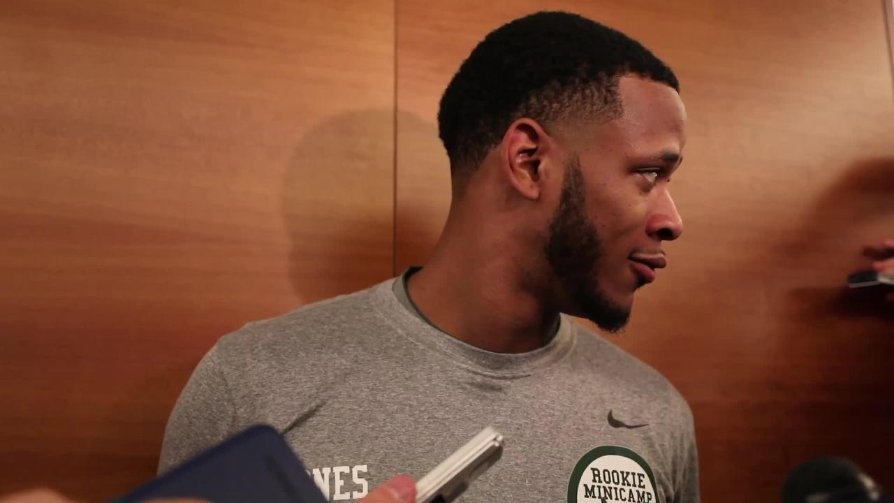 NY Jets sixth round draft pick Derrick Jones