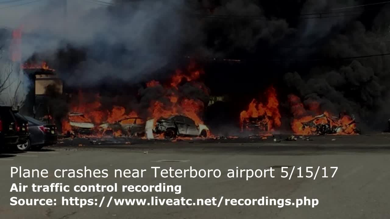 Air traffic control recording of plane that crashed near Teterboro