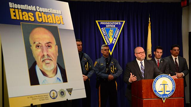 NJ State Attorney General Christopher S. Porrino talks about the guilty plea that Bloomfield Councilman Elias Chalet accepted for his role in taking a bribe.