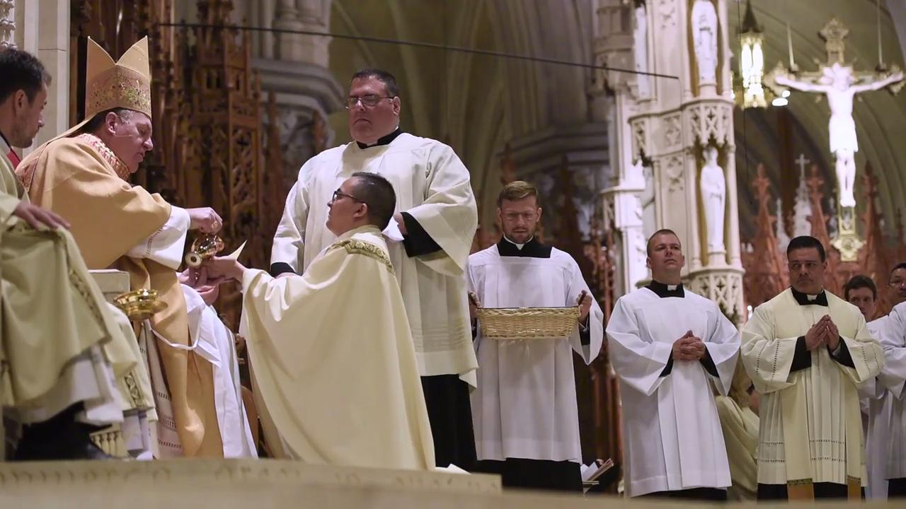 Joseph William Cardinal Tobin, the Archbishop of Newark, ordains priests at the Cathedral Basilica of The Sacred Heart on Saturday, May 27, 2017.