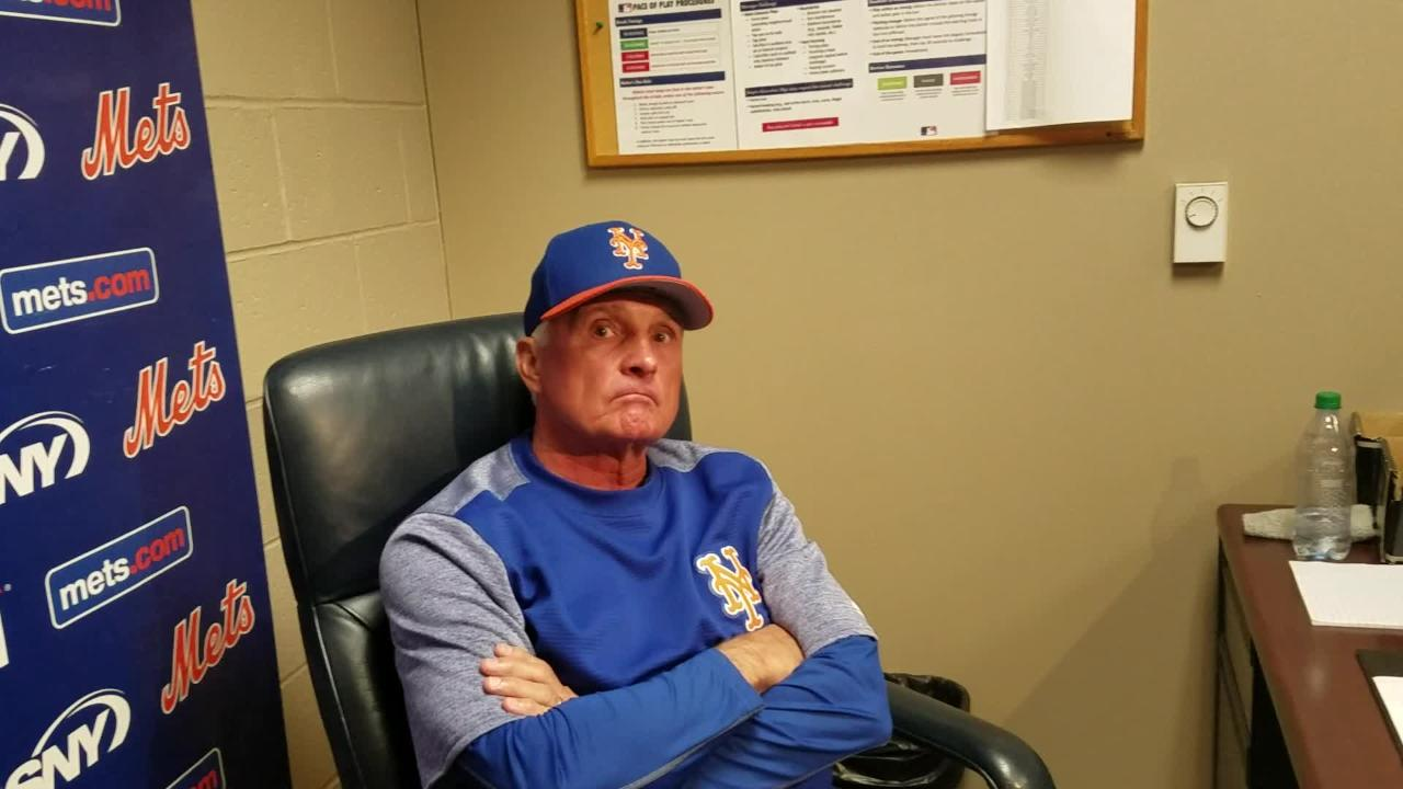 Terry Collins discusses Michael Conforto and Yoenis Cespedes.