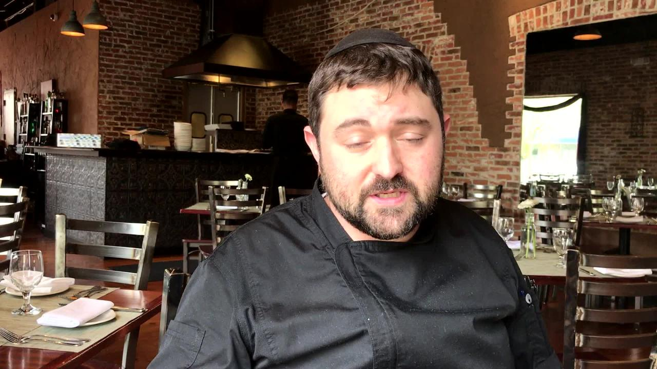 Joshua Massin, the chef and co-owner of kosher restaurant Nobo Wine and Grill in Teaneck, talks about his creation of kosher oysters.