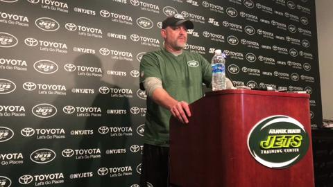 New Jets offensive coordinator John Morton talks about his offensive philosophy, on Tuesday, May 23, 2017, in Florham Park.